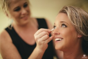 Kauai Wedding Photographer captures stunning image of a bride getting her makeup done before the big day!