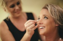 Bride getting her makeup done for the big day!
