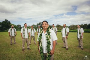Kauai's elite wedding photographer, Kahahawai Photography captures the groomsmen styled and ready for the day