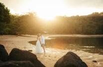 Kauai Sunset Wedding Kiss