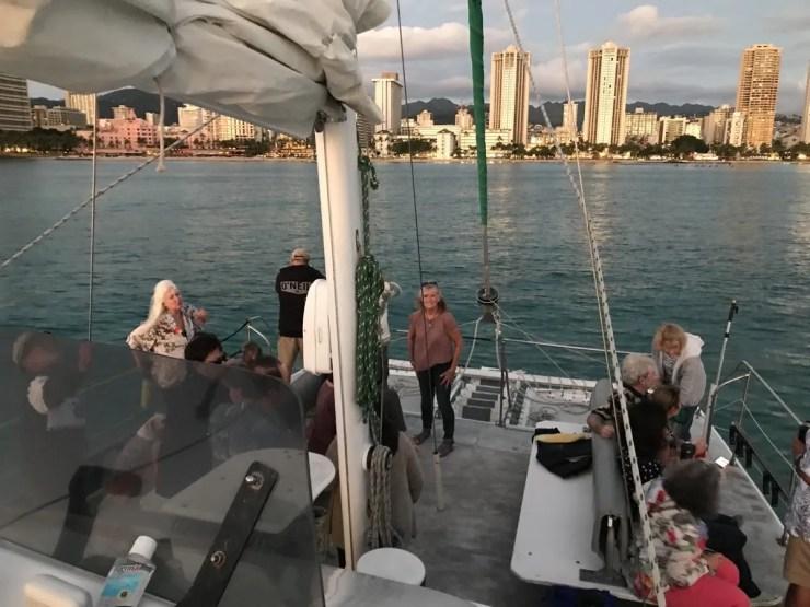 Sunset Sailing In Honolulu
