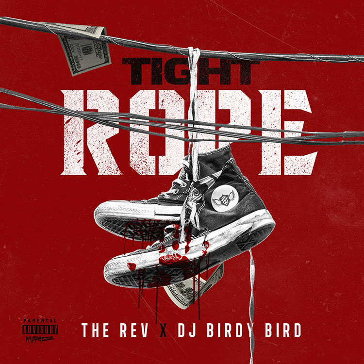 kahraezink_dj_birdy_bird_the_rev_tight_rope_mixtape_cover_design