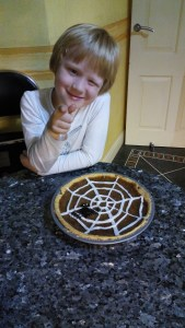 Spiders web pumpkin pie