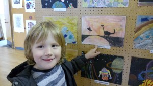 In the Sheffield Young Artists exhibition