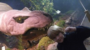 Avoiding being eaten by the T-Rex at the Eden project