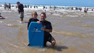 Bodyboarders at Watergate Bay