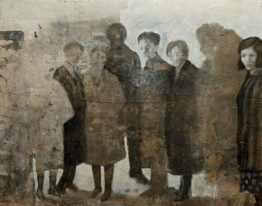 2013--Menschlichkeiten-120-x-150-cm-Mischtechnik-auf-Leinwand