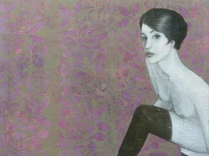 2009-Frohe-Botschaft-90-x-120-cm--Öl,-Acryl,-Tusche,-Nessel