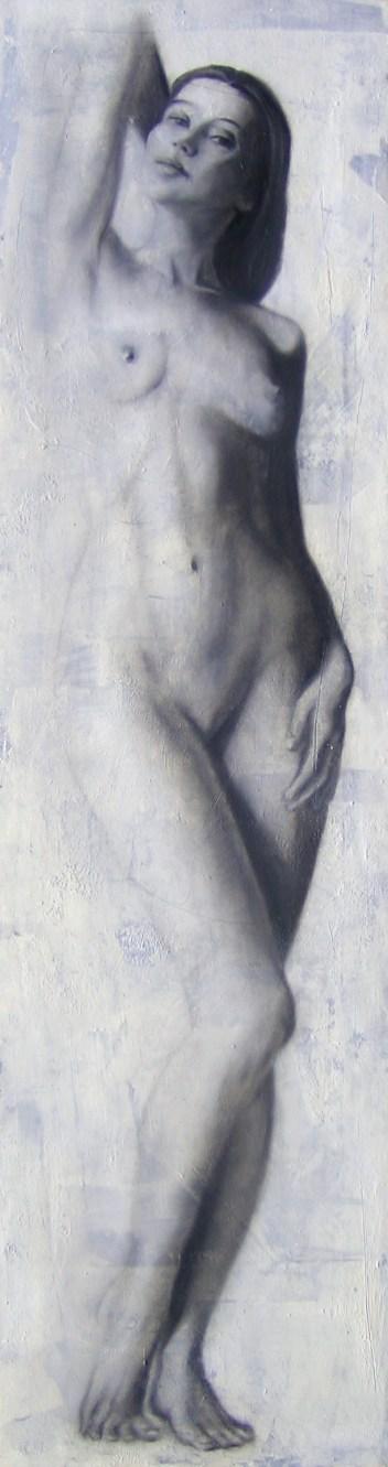 2010 Sehsucht 170 x 45 cm Öl, Acryl, Nessel