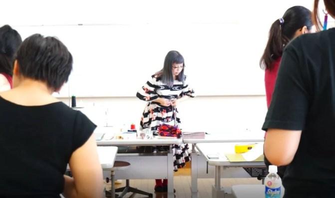 コスプレ衣装製作講座の風景