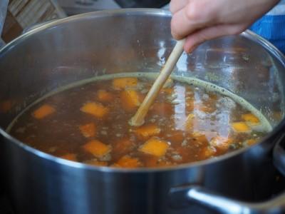 エクアドルのホストファミリーが作ってくれる、日替わりスープ