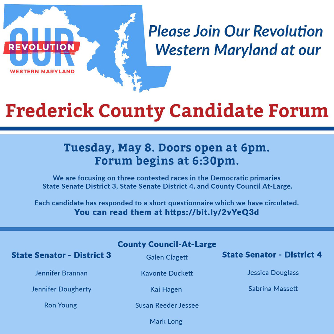 May 8 candidate forum