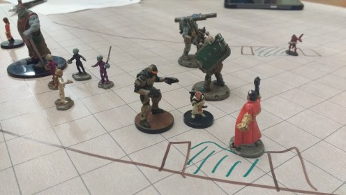 During the Starfinder dry run players had a chance to practice their social skills.