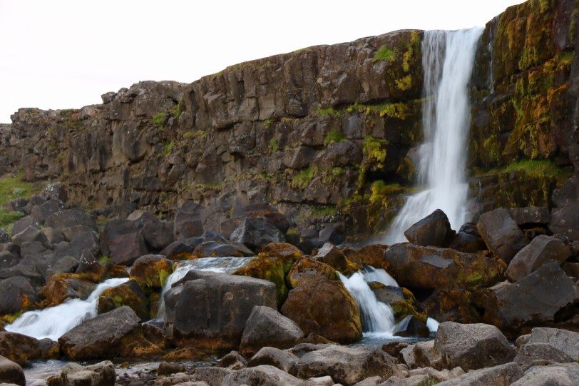 Öxarárfoss waterfall at Thingvellir, Iceland UNESCO
