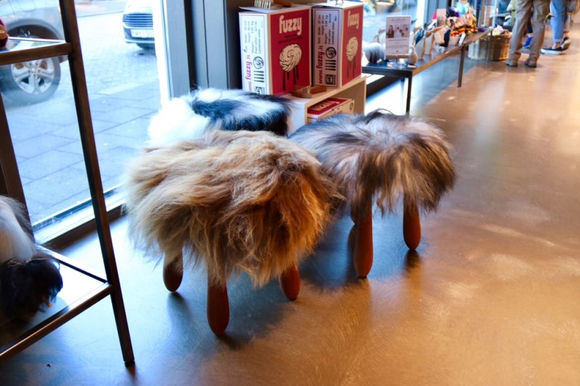 Icelandic Lamb' Wool Stool by Fuzzy