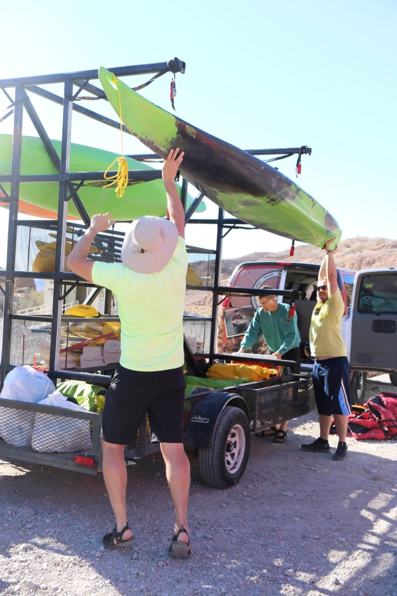 Takeout at Eagle Wash, Nevada: Kayak the Colorado River