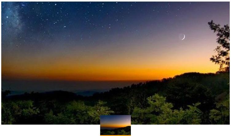 南信州 うるぎ星の森オートキャンプ場の夜景