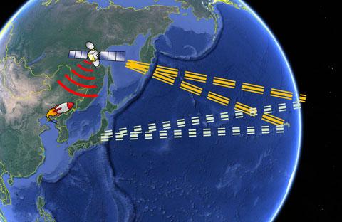米軍の早期警戒衛星が北朝鮮の弾道ミサイル発射を探知