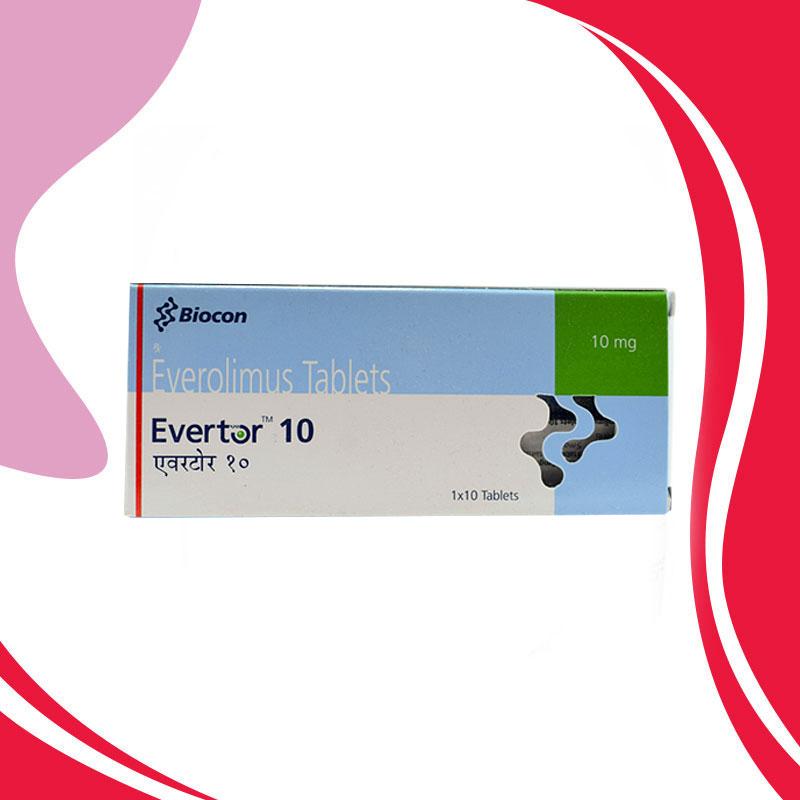 EVERTOR 10MG 10TAB. Эверолимус. Лечение опухолей. Индия
