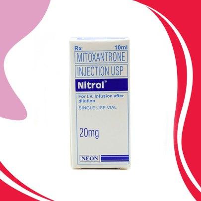 NITROL 20MG 10ML Митоксантрон. Химиотерапия рака. Индия