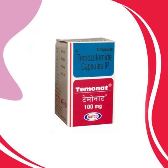 TEMONAT  100MG 5CAPS Темозоломид  Лечение рака  Индия