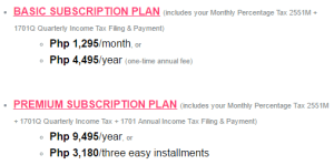 Taxumo Subscription Plans
