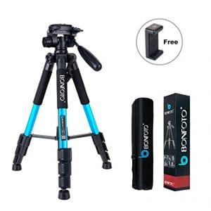 best affordable travel tripod for your carryon under $50 - bonfoto