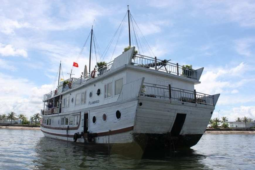 Flamingo Cruise Review- Halong Bay Cruise 2 days 1 night boat exterior