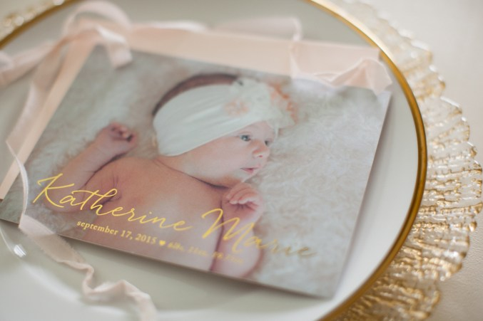 Blush Baby Girl Birth Announcement