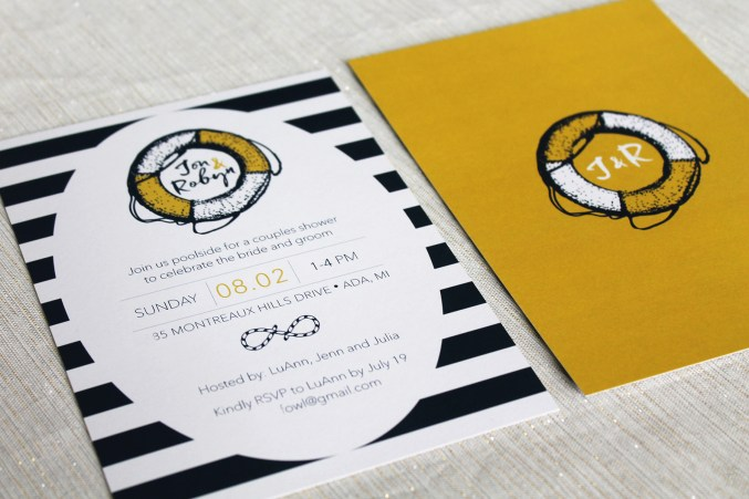 Nautical Wedding Shower Invitation