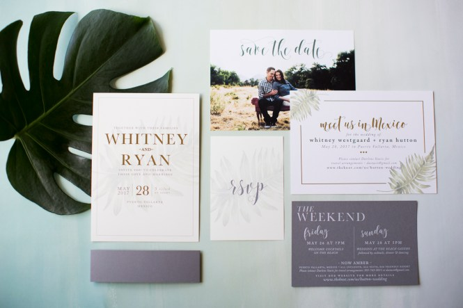 Modern Destination Wedding Invitation Stationery Design Blog
