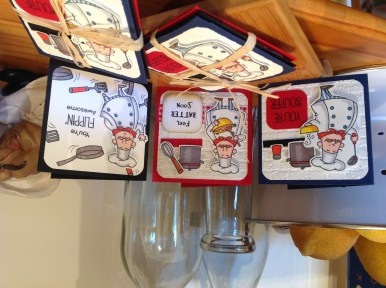 Set of 3 chef-inspired greeting cards
