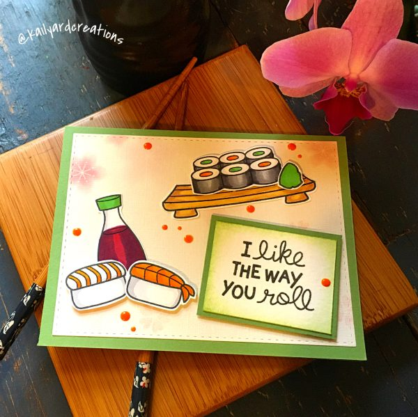 Sushi-Roll Greeting Card by Kailyard Creations