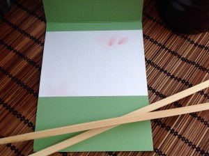 Kailyard Creations- Sushi Roll Greeting Card inside view