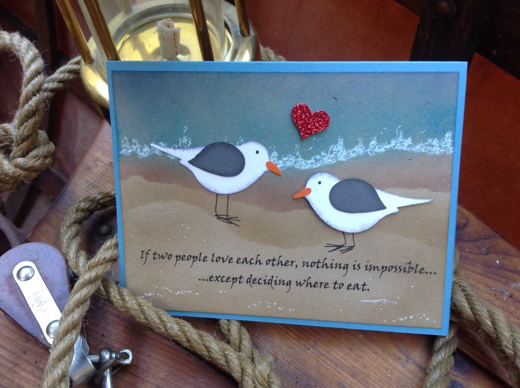 Kailyard Creations -Seagull Love Greeting Card