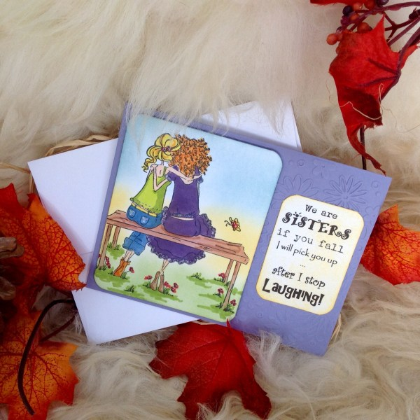 Kailyard Creations - Sisters Greeting Card With envelope