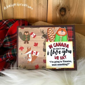 Timmies Greeting Card by Kailyard Creations