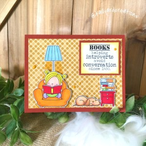 Books-n-Introverts Greeting Card by Kailyard Creations