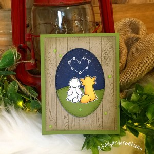Starry Love Greeting Card photo
