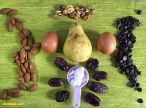 продукти зашоколадов десерт с круши и тъмен шоколад