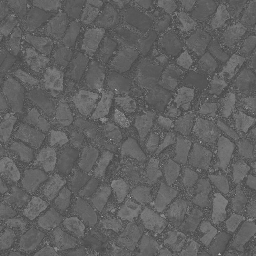 3D Scanned Seamless Cobblestone Street Specular Map