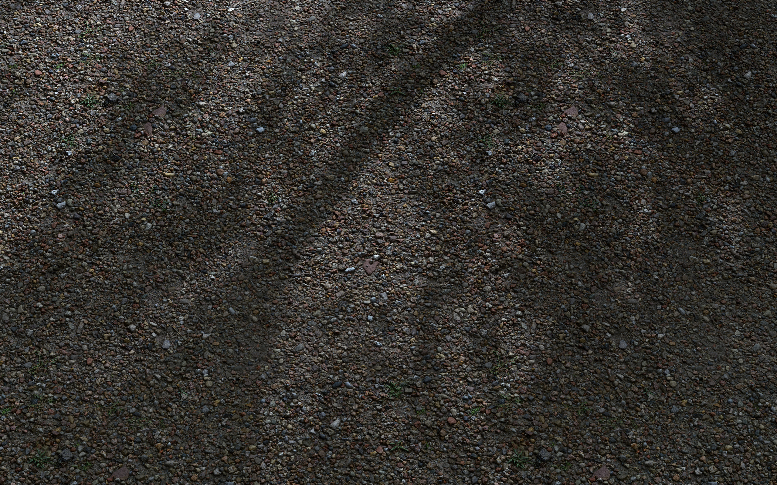 Free 3D Scanned Seamless Gravel Ground Material