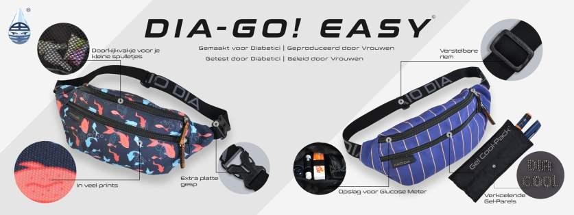Dia Go! Easy de handzame en gekoelde buideltas voor je diabetes spullen
