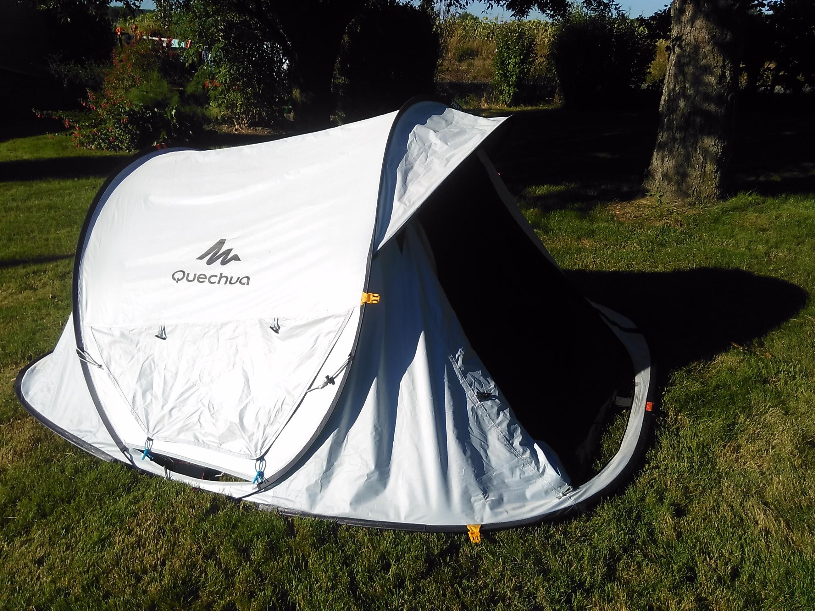 055b57f8e Test de la tente de camping Quechua 2 seconds E - Kairn