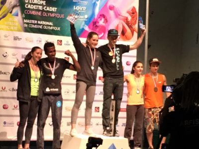 Master national Saint-Etienne - le podium