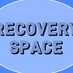 Recovery Space (on a blue background)