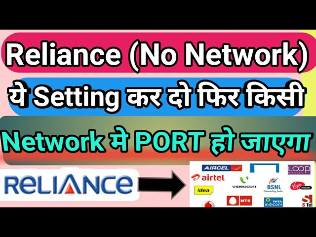 How to port Reliance SIM to other network if no network