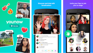 Online video chat app detail in hindi,YouNow