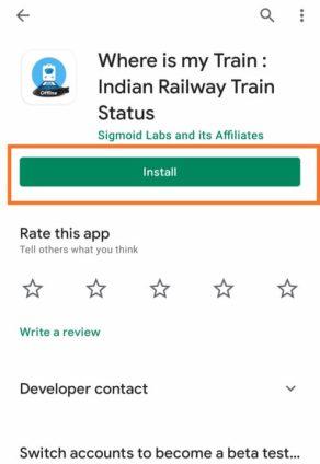 Where is my train Indian: Indian railway train status