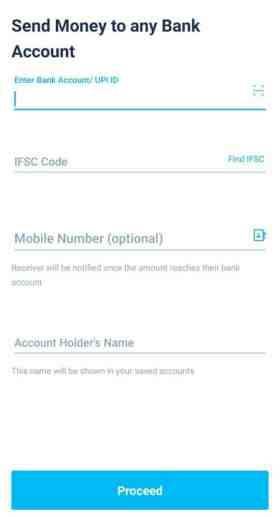 How to to transfer money from bank account to PayTM